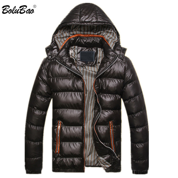 2018 New Winter Men Jacket Fashion Thermal Down Cotton Parkas Male Jackets Casual Hooded Brand Warm Coat Mens