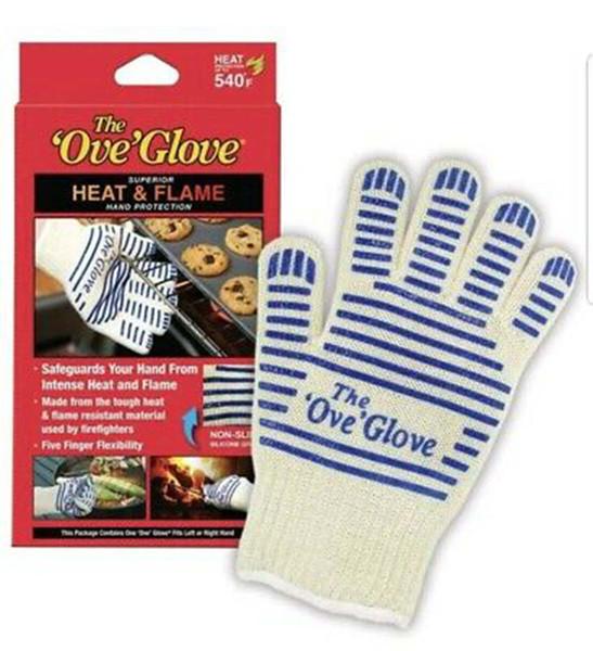 Le Ove Gant Four à micro-Glove 540 F chaleur résistant à la chaleur de cuisson résistant Preuve Gant chaud Gants de cuisine Gestionnaire de surface ZZA1417-1 100PCS