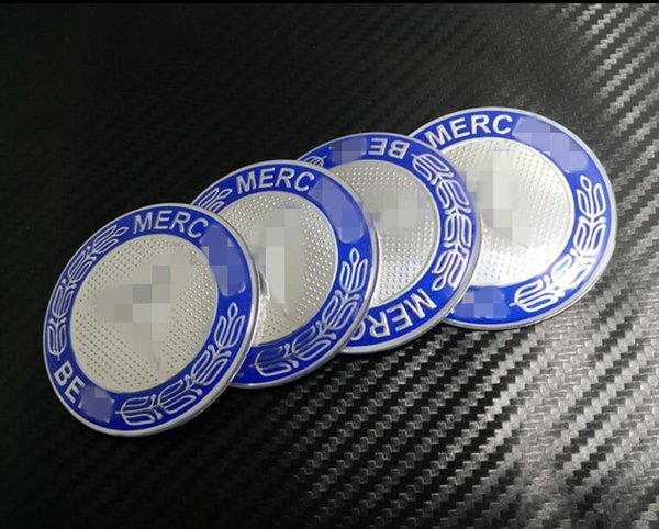 Free Shipping! Car Styling Creative 4 PCS Tire Wheel Hubcaps Circle Cover Stickers for Mercedes Benz Auto Accessories