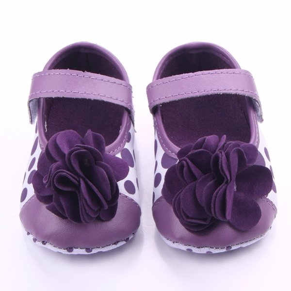 Spring Infant Baby Girls Beautiful Flower Shoes Soft Sole Flock Lovely First Walkers Crib Shoes 0-18 Months