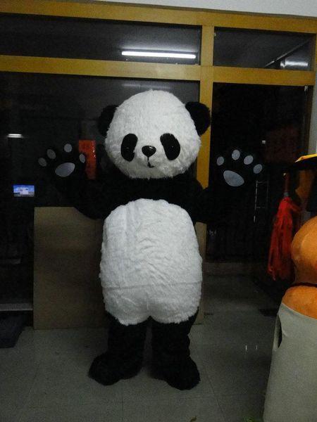 NewLuxury Panda Bear Костюм Талисмана (плюшевый)! Бесплатно S / H