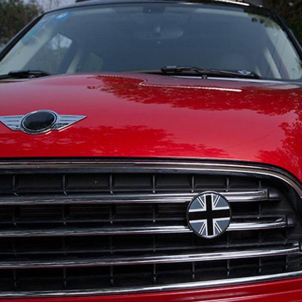 Metal 3D Araba Ön Bonnet Izgara Krom Rozet Amblem Çıkartması MINI Cooper Için Bir Taşralı R60 R55 R56 F56 F55 F60 Aksesuarları