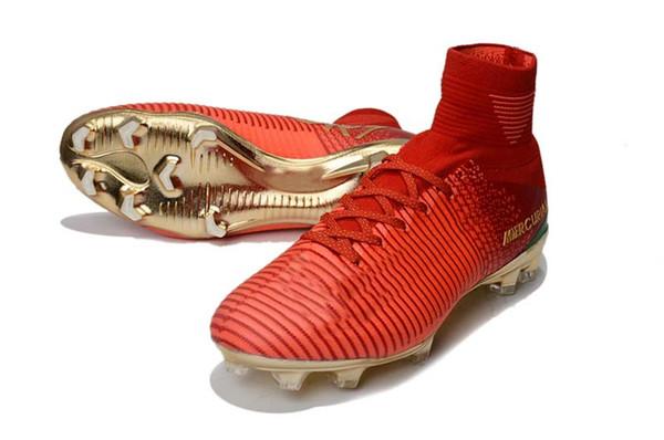 Chaussures de football de style classique SX Neymar Mercurial Superfly V AG Chaussures de football FG Hommes / Femmes / Enfants Crampons de football en plein air
