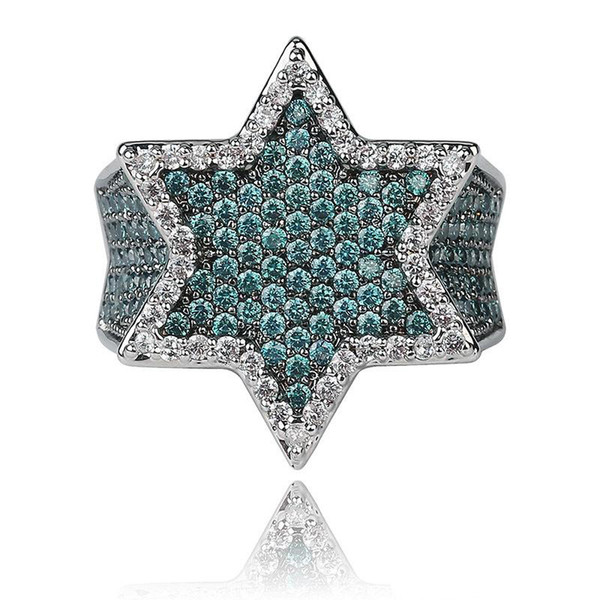 Los hombres de lujo anillos de compromiso anillo de bodas para hombre de oro plata verde amor anillo de diamantes anillos diseñador de la joyería hombre accesorios de moda
