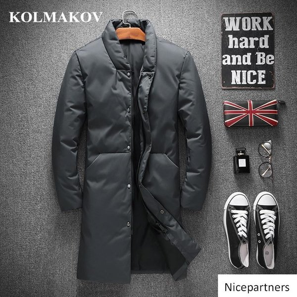 Erkekler Kış Kalınlaşmak Erkek Parkas M-4XL Casual ceket Aşağı Masculino için Aşağı Coats Duck KOLMAKOV Erkekler Giysiler Yeni Geliş