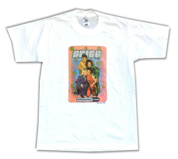 eff4c80f The Spice Girls Spice World Tour Kids Youth White T Shirt New Official  Merch Tees Custom