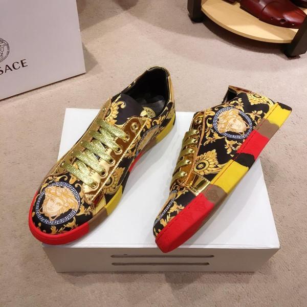 2019K zapatos casuales de lujo para hombres de edición limitada de alta calidad zapatos deportivos cómodos y transpirables botas para hombres salvajes de moda caja original packa