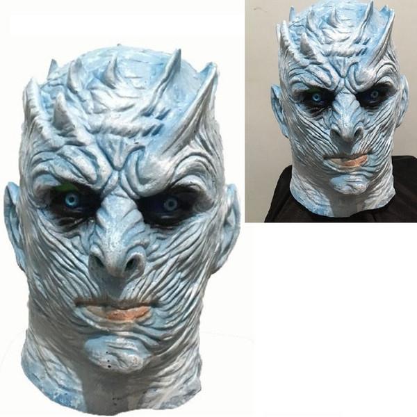 Cadılar bayramı sahne Gece Kral COS Güç Oyunu Buz ve Yangın Şarkı Sahne Sahne Hayalet Kral Gece Kral Maskesi wn687 20 adet