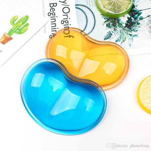 Translucent Gel Silicone Wavy Mouse Pad Wrist Rest Support For Computer Laptop Drop Ship For PC MAC