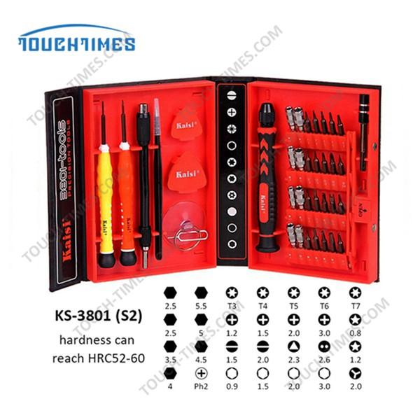 / Telefon / Laptop PC için uygundur 1 Tornavida Seti Fonksiyonlu Telefon Açılış Onarım Aracı Kaisi Hassas 38