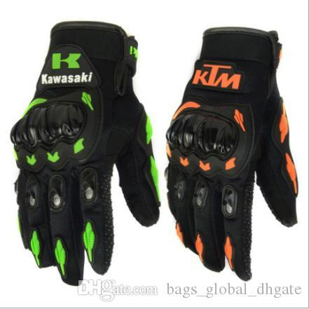 New KTM Kawasaki Motorcycle riding gloves Three - dimensional finger design Non-slip point plastic Palm shockproof lower Price On Sale