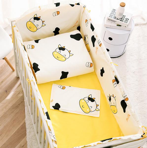 Özel bebek yatağı çevreleyen bebek yatak paketi çocuk yatak pamuk çarşaf 70 takım