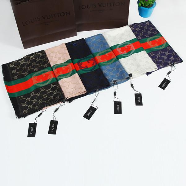 2020 Designers Man Scarf Hauts femmes luxe Atumn hiver soie Châle Foulard Marque Foulards Taille environ 180x70cm 4 couleurs