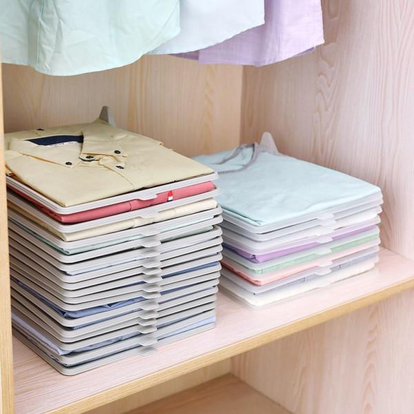 Vêtements Organisateur Anti rides Stockage Conseil T-Shirt pliant Bureau du Conseil du Bureau Classeur Valise étagère Intercalaires Placard tiroir organis