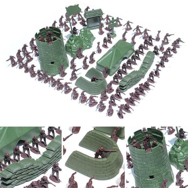 Nouvelle Arrivée 3CM Armée Combat Hommes Enfant Jouet Soldats Militaire Figurine En Plastique Action Figure 10pcs / set