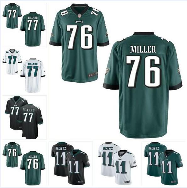 buy popular bd5de 6e42f 2019 Andre Dillard Eagles Jersey Carson Wentz Zach Ertz DeSean Jackson  Miles Sanders Shareef Miller Custom American Football Jerseys Discount From  ...