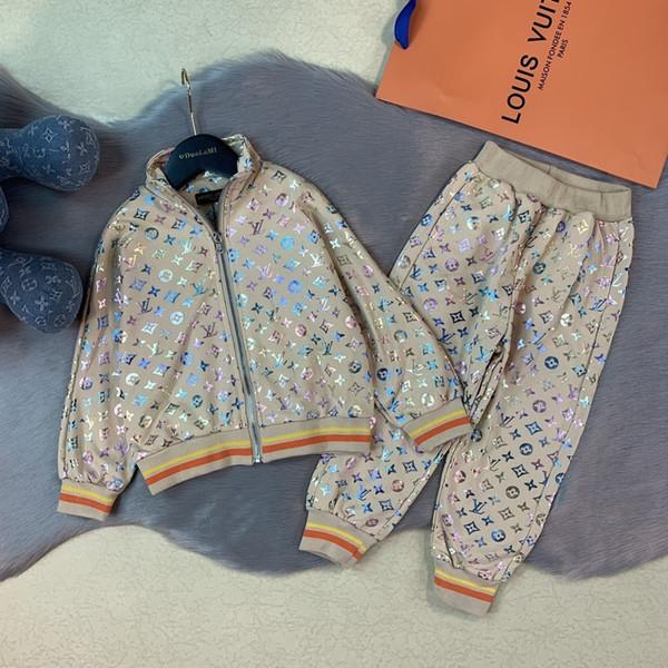 Çocuklar Saf Pamuk twinset Çocuklar kızlar sonbahar Giyim yılında Çocuk Konfeksiyon Suit 09194 setleri 2019 celeb İki Adet Kıyafetler