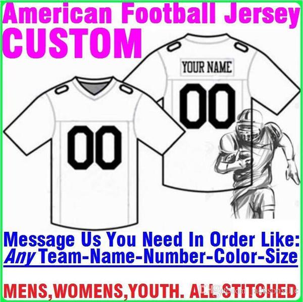 Personnalisés maillots de football américain personnalisé Tennessee Denver collège authentique chandail de hockey de basket-ball de baseball bon marché 4XL 5XL taille 7XL