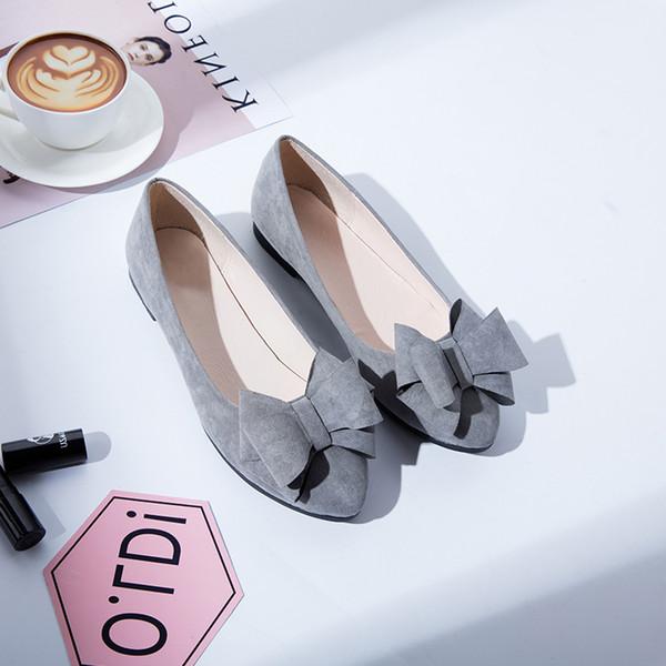 Femme Bureau Fashion Show Bout Carré Mocassins en cuir argenté Flats