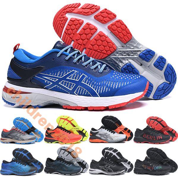Brand Gel-Kayano 25 Marathon Running Shoes For Men 2019 Designer Mita Trico Gray Blue New York Berlin Limited Sports Sneakers Size 40.5-45
