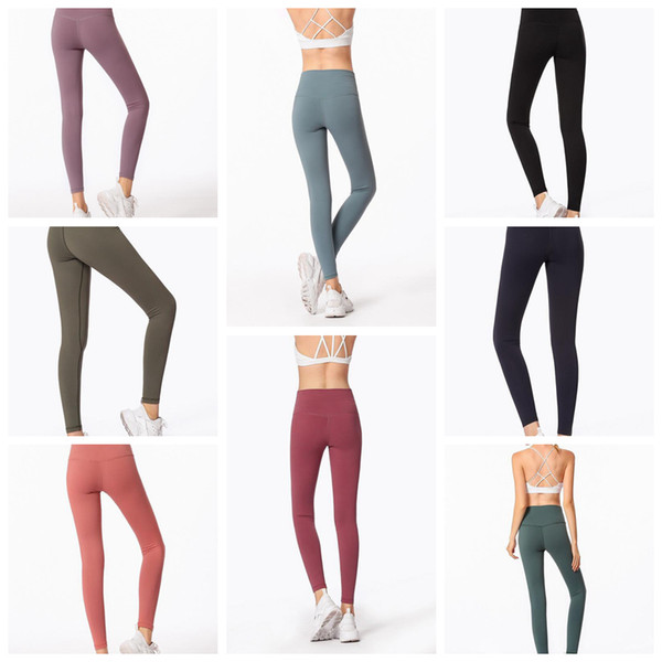 Mulheres Leggings Skinny 8 Cores Sports Gym Yoga Pants Treino de Cintura Alta Apertado Nono Yoga Leggings 5 pcs LJJO6333