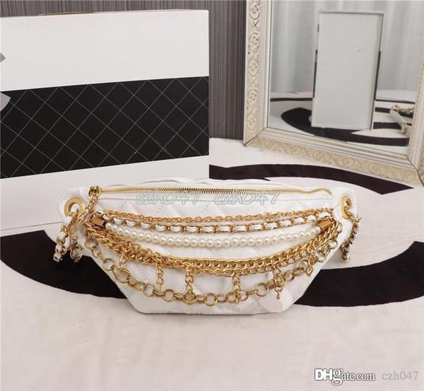 Kadınlar Paketi Bel Çantası Kadınlar Kemer Çantası hakiki deri Göğüs Çanta Bej Yeni Moda sıcak satış 68907 için 2019 Yeni Çanta