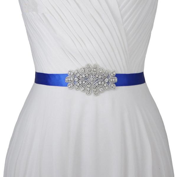 Handmade High Quality Rhinestone Diamond Beads Bridal Sashes Red White Ivory Blue Wedding Belt For Bridal Dress Evening Gowns Wedding Sashes