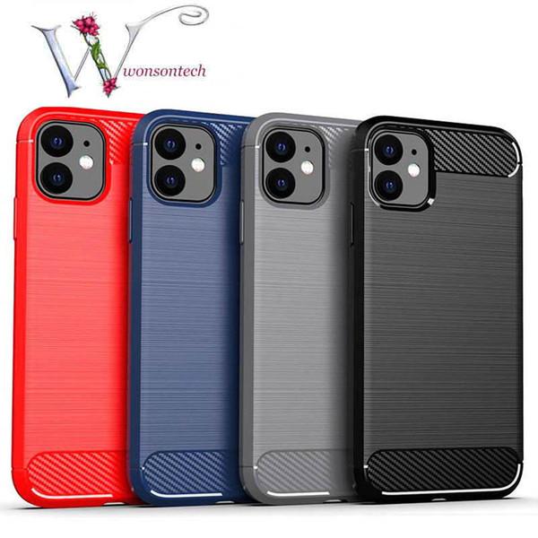 Custodia in silicone per iPhone 11 2019 su iPhone 11 Case Cover fibra Phone Pro Max carbonio per iPhone XR X Xs Max 8 7 6 6s plus Cases