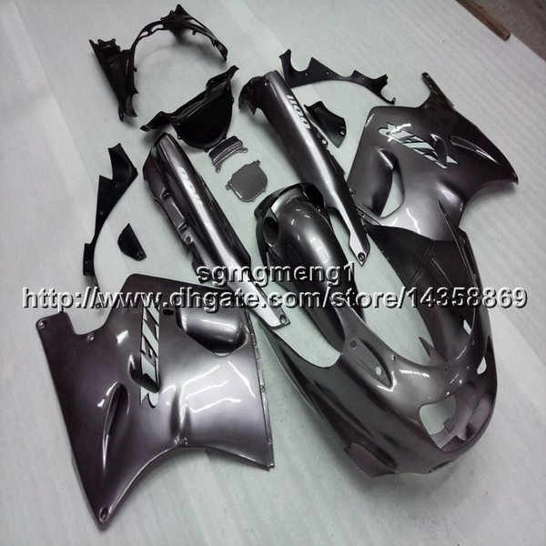 Botls+Gifts silvergray motorcycle cowl For Kawasaki ZX11R ZZR1100 1993 1994 1995 1996 1997 1998 1999 2000 2001 ABS motor Fairing
