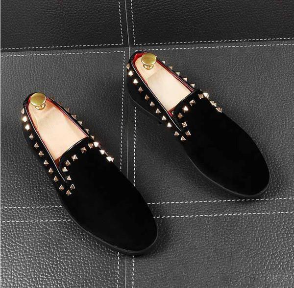 rivets classique chaussures robe de mariage chaussures hommes concepteur hommes robe appartements de chaussures bureau pour les hommes