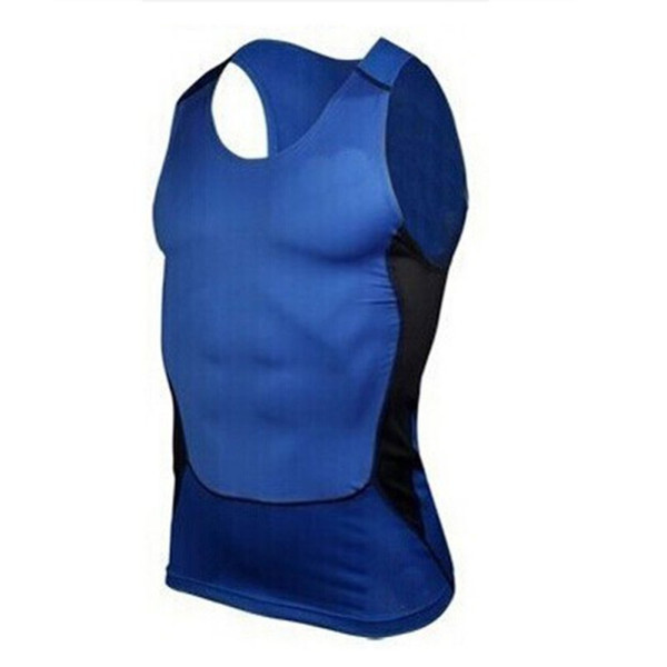 Men's Quick-Drying Sleeveless Breathable Sports Tight-Fitting Shirt 2018 New Sports & Fitness T shirt Compression