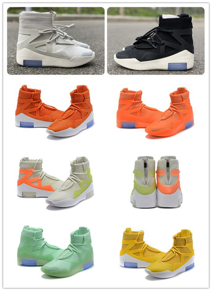 Con Box FOG Fear of God 1 Stivali Fashion Designer Scarpe FOG Outdoor Stivali Nero Grigio Bianco Zoom Sneakers Taglia 5-12 shippment gratuito