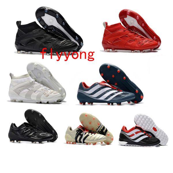 New mens turf soccer cleats indoor soccer shoes Crampons de football boots predator mania Precision Accelerator DB David Beckham FG Gold
