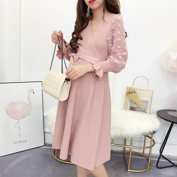 Сладкий шифон шить платье для беременных платье для беременных японский и корейский стиль мода женская одежда