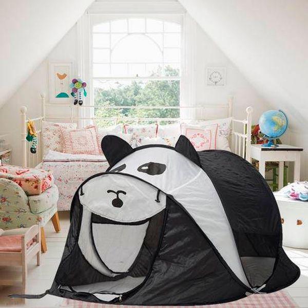 Panda padrão Bonito Novo Folding Play Tent para Crianças Tenda Bonito Pop-Up Indoor Ao Ar Livre Jogar Casa