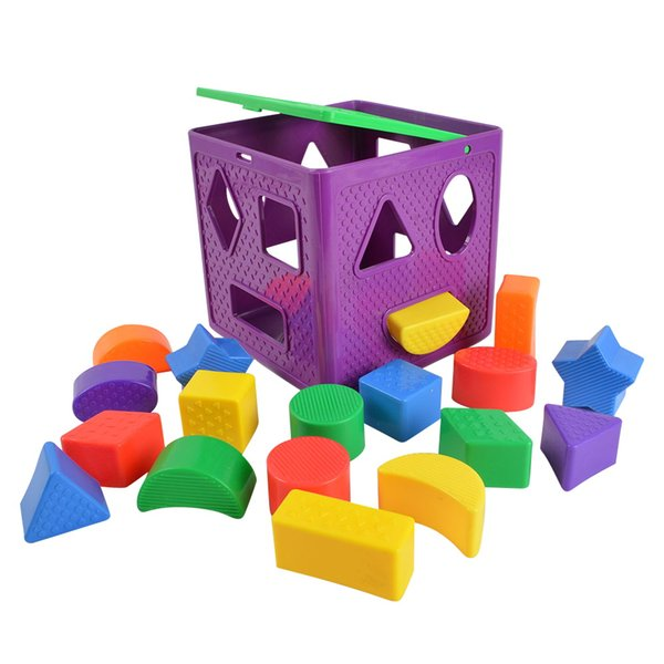 toys BOHS Shape Sorting Cube Geometric Shapes Sorters Baby , with 18 Blocks and 1 Cube