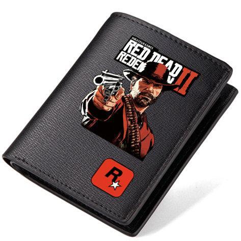 Redemption wallet Red dead purse Hot game short long leather cash note case Money notecase Loose change burse bag Card holders