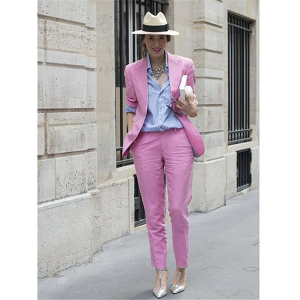 custom made Work Fashion Pant Suits 2 Piece Sets Blazer Jacket & Straight Pant Office Lady Suit Women Outfits (Jacket+Pants)