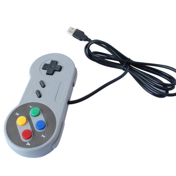 USB 2.0 Gamepad PC filaire contrôleur de jeu Manette Joypad Manette de jeu SNES Game Pad pour Windows PC MAC Control Computer
