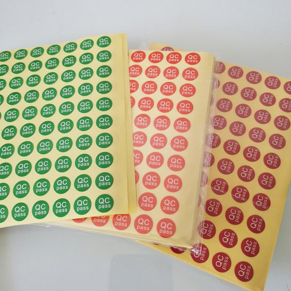 3000pcs / set QC PASS Diamètre 10mm Autocollant pour étiquettes de papier auto-adhésif pour le contrôle de qualité en usine, Article N ° GU08