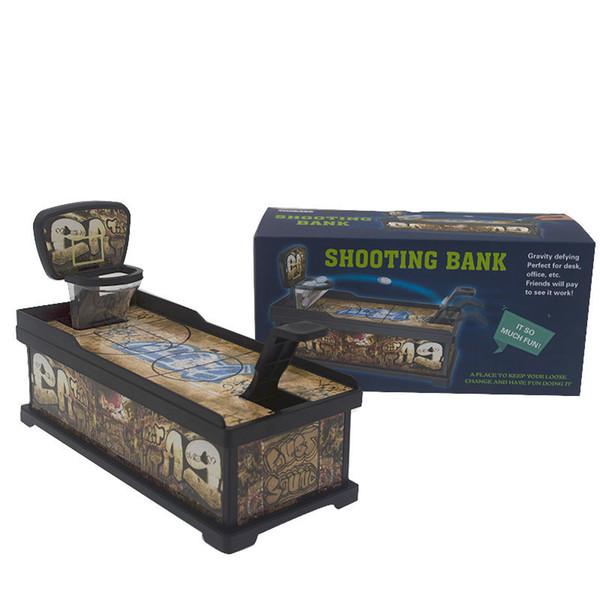 Moneda de tiro Alcancía Creativo Mini Baloncesto Caja de ahorro para disparos Niños Juguetes divertidos Juegos de escritorio Desembalaje