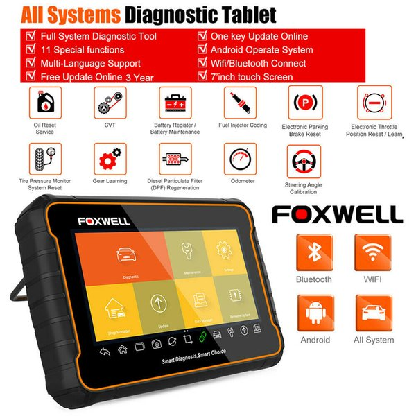 All System OBD2 Tablet Scanner Bluetooth WiFi Coding Diagnostic with Android OS