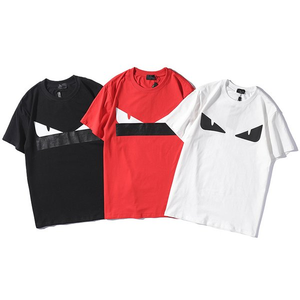 Erkek Tasarımcı Tişört Yaz Yeni Sıcak Satış 3 Renkler Erkek ve Bayan Kısa Kollu Yuvarlak Yaka Pamuk Tee Asya Boyut S-2XL Ücretsiz Kargo
