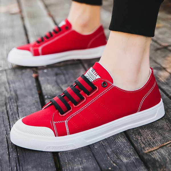 shoes men sneakers summer shoe board shoe canvas casual han edition fashionable breathes freely in summer