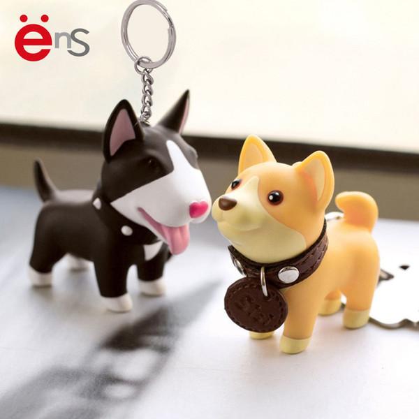 SıCAK Yavru Anahtarlık Yaratıcı PVC Karikatür Köpek Anahtar Kolye Sevimli Köpekler Araba Anahtarlıklar Doğum Günü Hediyeleri