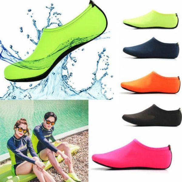 top popular UK New Women Men Water Shoes Aqua Socks Diving Socks Wetsuit Non-slip Swim Beach 2020