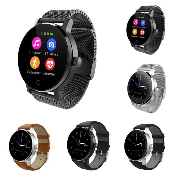 SMA-09 moniteur de fréquence cardiaque de musique d'appel de téléphone intelligent de montre de Bluetooth de voiture pour IOS Android