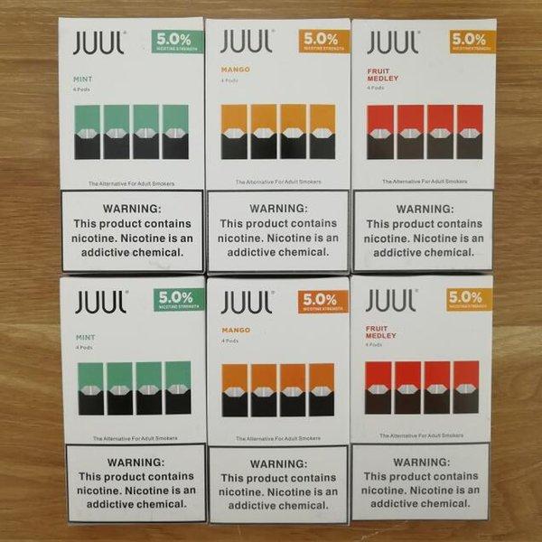 2019 JUUL Pods 8 Flavors For Juul Pen Device Mango Mint Fruit Pod
