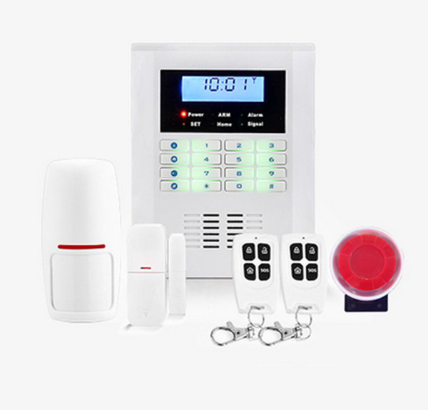 Sistema de alarma inalámbrico de sistema de seguridad de doble banda para el hogar SMS GSM, sistema de alarma antirrobo, sensor de alarma de puerta