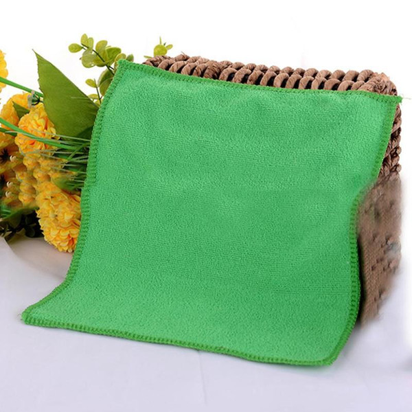 1Set 5pcs Green Microfiber Cleaning Auto Car Detailing Soft Microfiber Cloths Wash Towel Duster Home Cleaning Tools